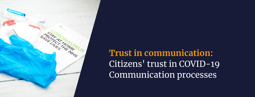 Citizens' trust in COVID-19 communication processes (1)